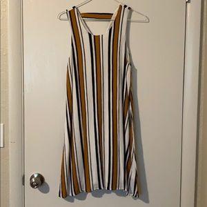 Striped sleeveless cocktail dress